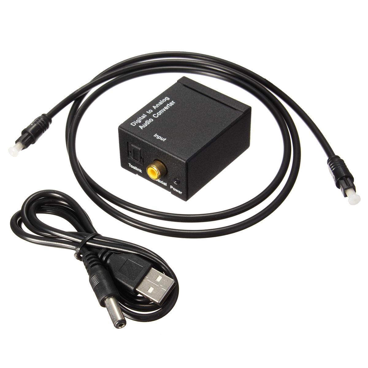 digital optical coax coaxial toslink to analog audio converter adapter rca l r alex nld. Black Bedroom Furniture Sets. Home Design Ideas