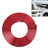 2m High Quality Car Headlight External Frame Decorative Strip Car Wheel Hub Trim Mouldings Shining Decoration Strip Automobile Network Decorative Strip (Red)