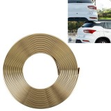 2m High Quality Car Headlight External Frame Decorative Strip Car Wheel Hub Trim Mouldings Shining Decoration Strip Automobile Network Decorative Strip (Gold)