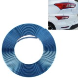 2m High Quality Car Headlight External Frame Decorative Strip Car Wheel Hub Trim Mouldings Shining Decoration Strip Automobile Network Decorative Strip (Blue)