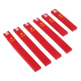 6 PCS Chinese National Flag Rear View Mirror Door Edge Guards Trim Molding Protection Strip Scratch Protector Car Door Guard Crash Barriers Sticker