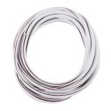 5m Car Decorative Strip PVC Chrome Decoration Strip Door Seal Window Seal (White)