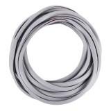 5m Car Decorative Strip PVC Chrome Decoration Strip Door Seal Window Seal (Grey)