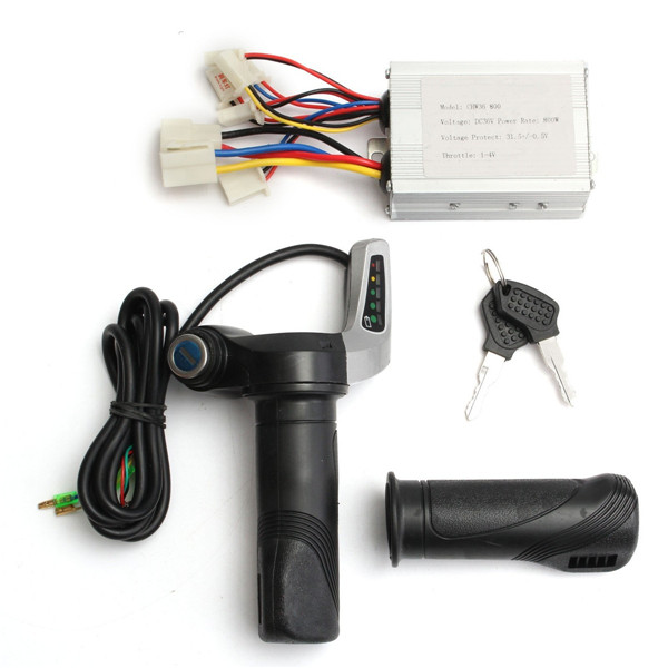 36v 800w brushed speed controller throttle twist grip for for 36v dc motor controller