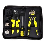 Paron JX-D4301 Multifunctional Ratchet Crimping Tool Wire Strippers Terminals Pliers Kit