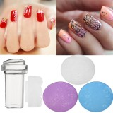 3pcs DIY Nail Art Stamp Stencil Stamper Set Scraper Design Stamping Template Image Printer Plate Kit