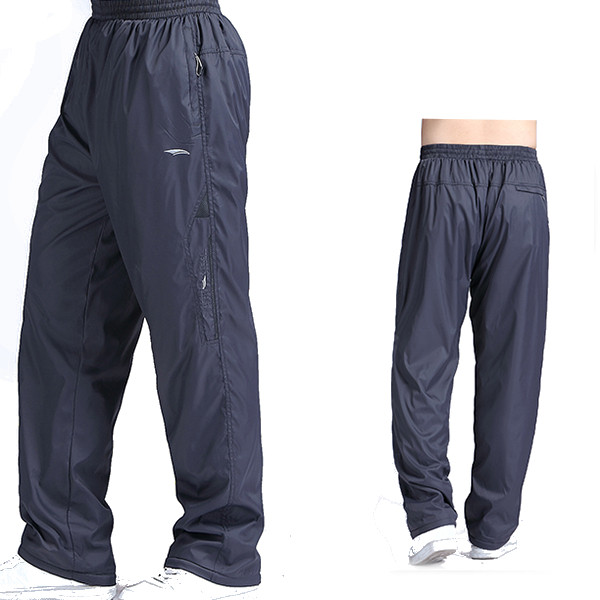 Plus Size Mens Winter Thick Fleece Warm Pants Elastic Waist Loose Casual Pants