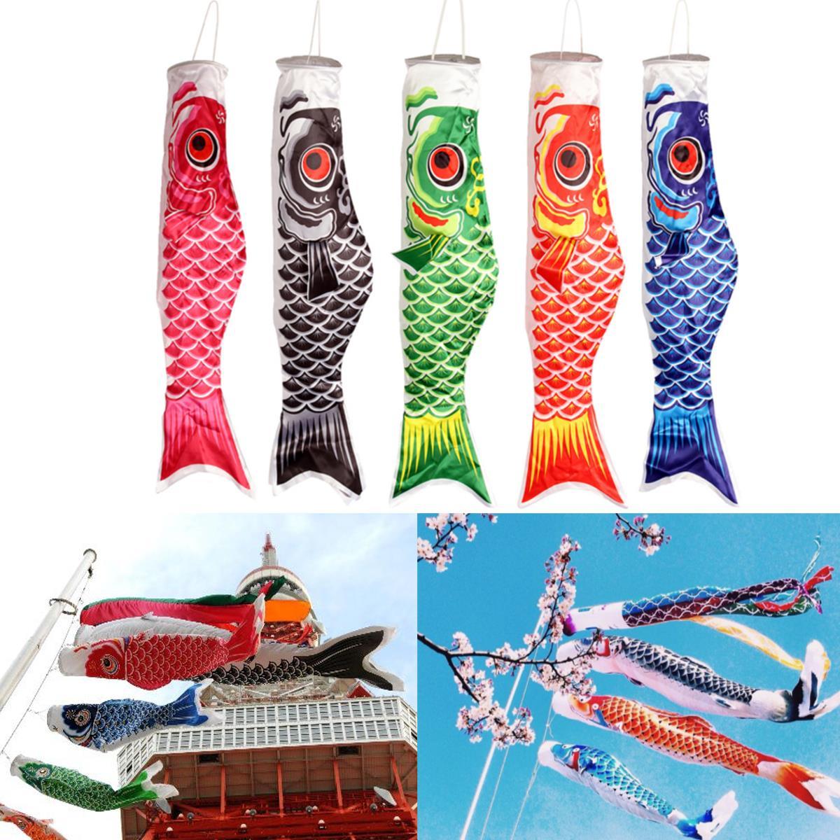 100cm Koi Nobori Carp Wind Sock Koinobori Fish Kite Flag