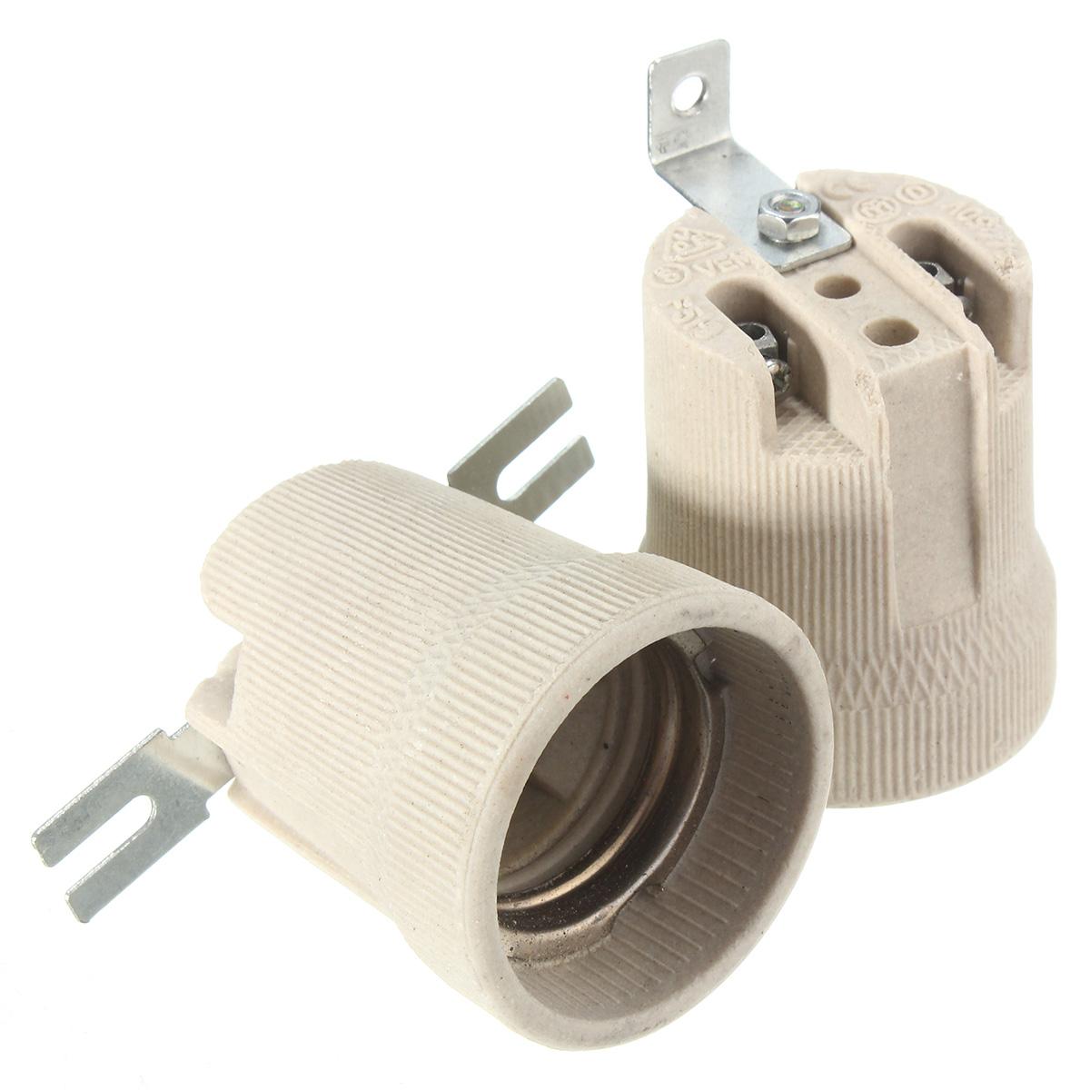 E27 Ceramic Lamp Holder Socket Fittings Screw Bulb Adapter