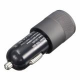Aluminum 5V 3A USB 3.1 Type C USB A 2.0 Dual Port Car Charger Power Dual USB Car Charger
