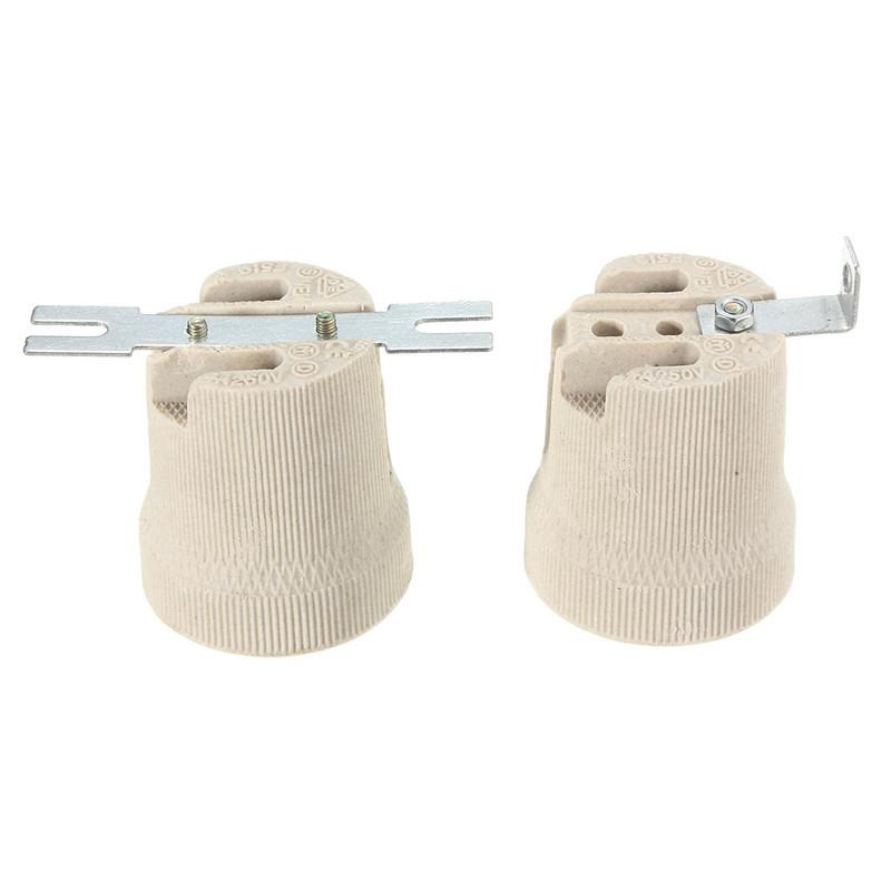 E ceramic lamp holder socket fittings screw bulb adapter