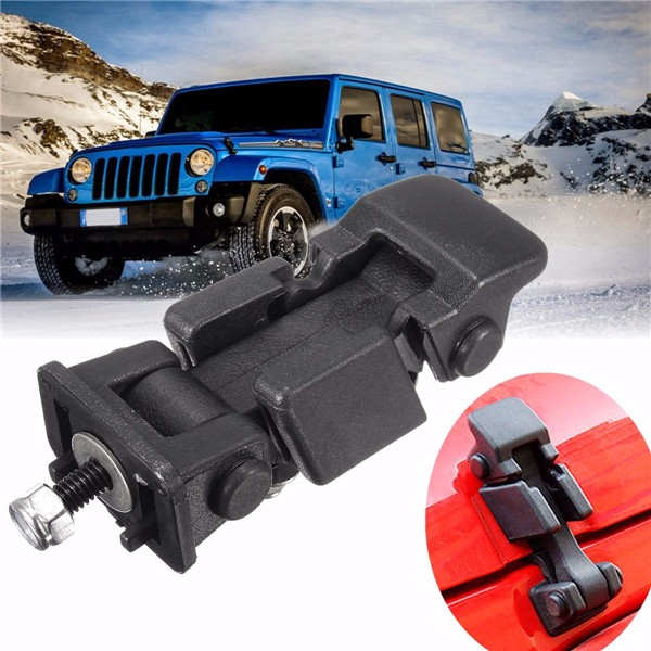 Hood Catch Lock Bracket Latches Buckle for 07-16 Jeep Wrangler JK & Unlimited