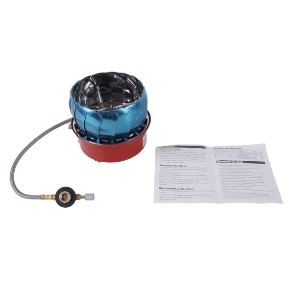 Portable Collapsible Outdoor Backpacking Camping Stove Butane Propane Burner for Gas Canisters