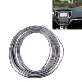 3M Flexible Trim For DIY Automobile Car Interior Exterior Moulding Trim Decorative Line Strip with Film Scraper (Silver)