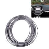 3M Flexible Trim For DIY Automobile Car Interior Exterior Moulding Trim Decorative Line Strip with Film Scraper (Silver)