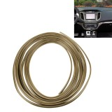 3M Flexible Trim For DIY Automobile Car Interior Exterior Moulding Trim Decorative Line Strip with Film Scraper (Gold)