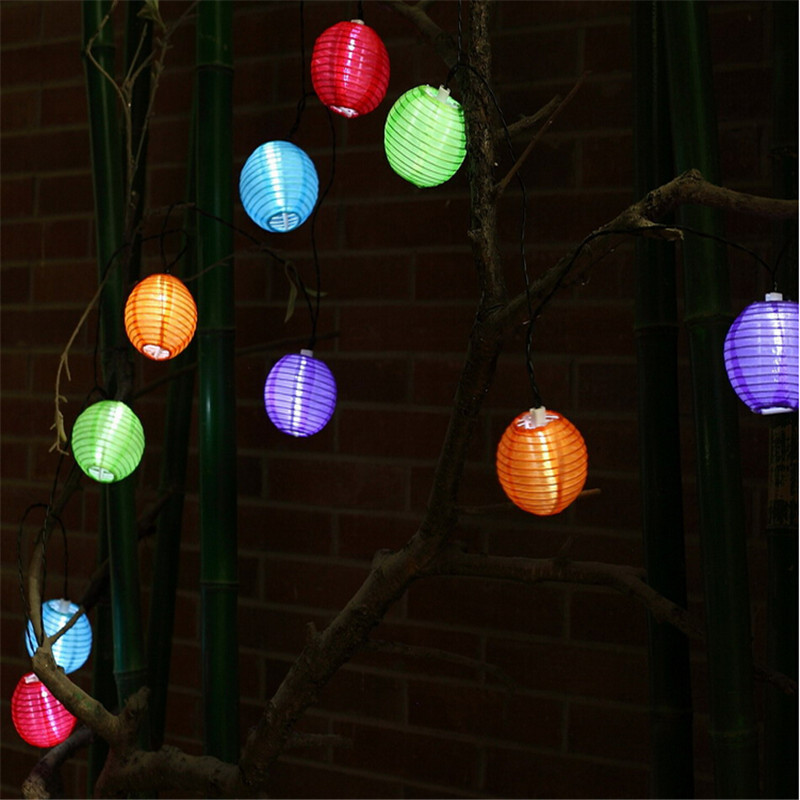 solar powered 30led lantern fairy string light xmas wedding garden