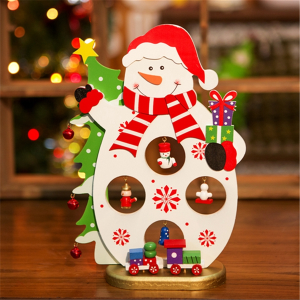3d Wooden Christmas Santa Claus Snowman Assembling Crafts Home Decor