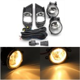 Pair H11 Front Bumper Clear Fog Lights with WiringHarness Switch Lamp Covers For Toyota Camry 07-09