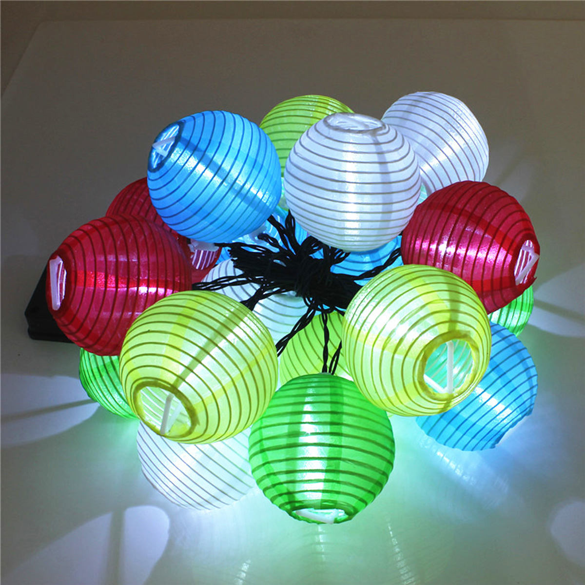 Solar Powered 30LED Lantern Fairy String Light Xmas Wedding Garden Lamp Home Decor