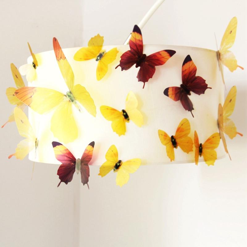 18Pcs 3D Transparent Butterfly Wall Stickers PVC European American ...