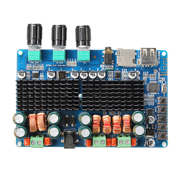 SW-HF41 Wireless Bluetooth Digital 2.1 Channel Amplifier Board 50W+50W Stereo Output 100W Bass Output USB TF Card Decoding Play 12-26V DC
