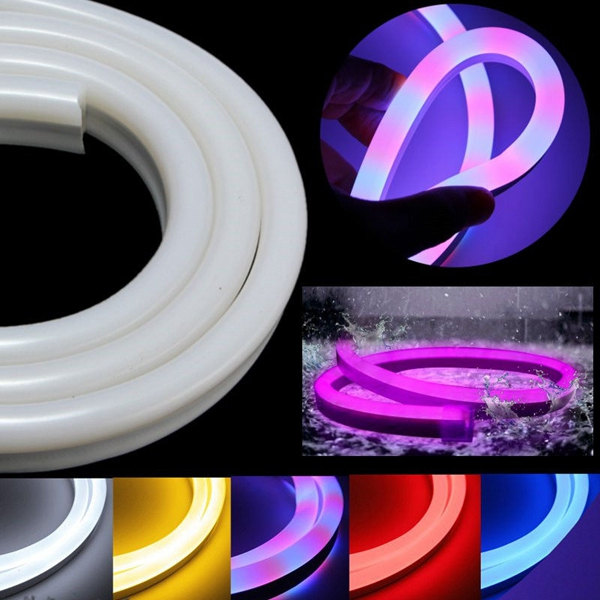 Led Waterproof Strip Lights White Flexible Rope Lighting: 5M 2835 LED Flexible Neon Rope Strip Light Xmas Outdoor