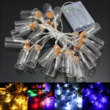Battery Powered 20 LED Wishing Bottle Fairy String Light Xmas Garden Wedding Party Decor