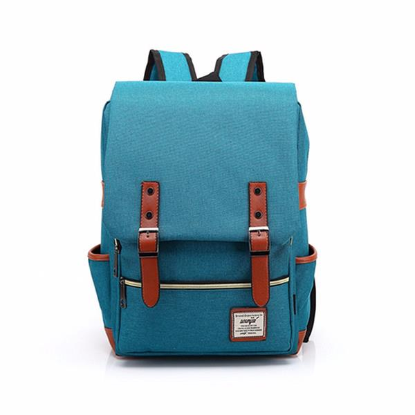 14inch Laptop Unisex Canvas Classic Laptop Backpacks School Backpack