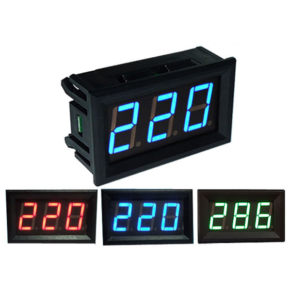 Ac Panel Meters : Inch ac v mini digital voltmeter voltage panel