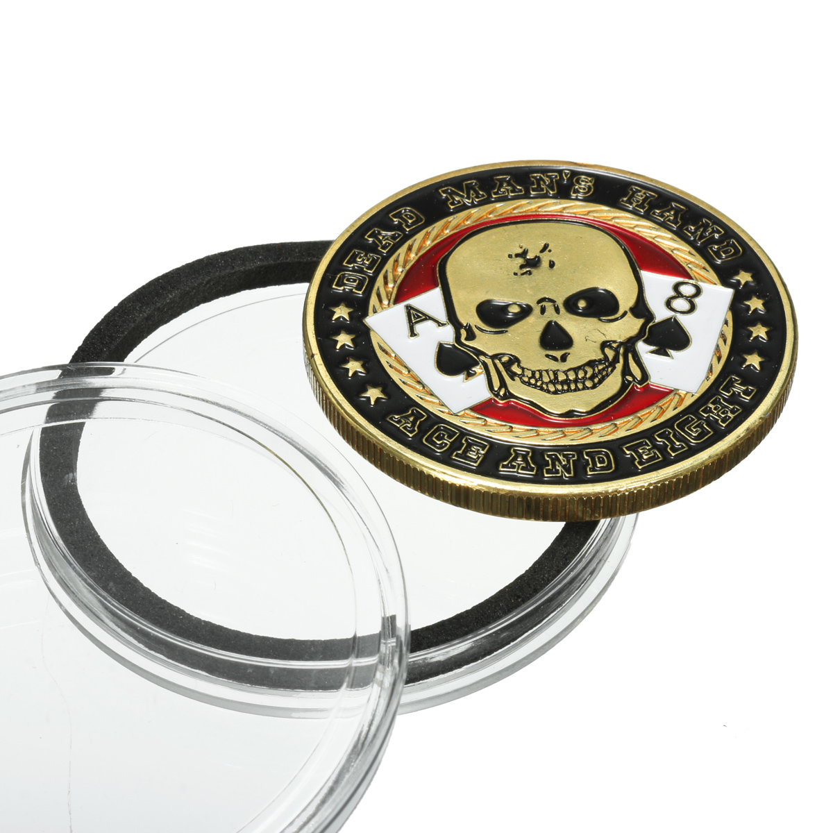 TEXAS Poker Holder Coin Card Guard Cards Chip Cover Protector+Case