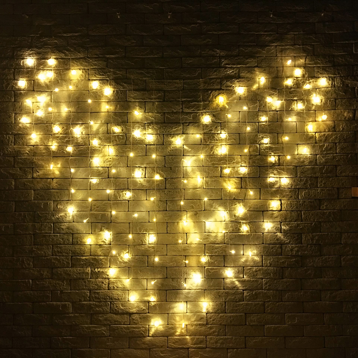 128 Led Heart Shape Fairy String Curtain Light Valentine S