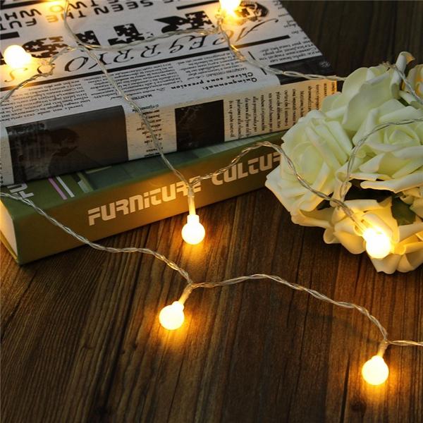 Battery Powered 5M 30 LED Ball Fairy String Light Outdoor Christmas Wedding Xmas Party Decor