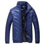 Men Winter Windproof Lightweight Thick Warm Padded Jackets Zipper Cotton Coats S-3XL