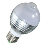 E27 B22 7W Auto PIR Motion Sensor LED Infrared Energy Saving Light Bulb 85-265V