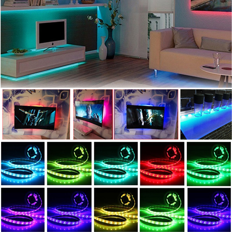 Waterproof USB DC5V SMD5050 Tape TV Background RGB LED Strip Light with Remote Controller
