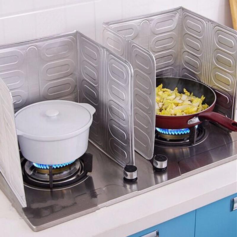 Anti splatter shield guard cooking frying pan oil splash for Plaque en aluminium pour cuisine