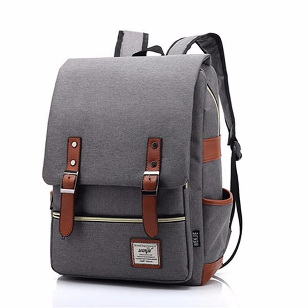 14inch Laptop Unisex Canvas Classic Laptop Backpacks School Backpack Alexnld Com