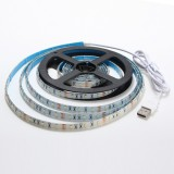 1M Waterproof USB SMD3528 TV Background Computer LED Strip Tape Flexible Light DC5V
