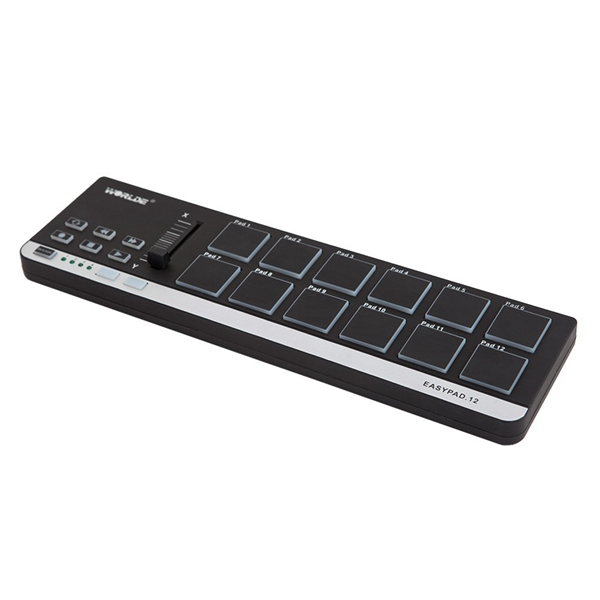 worlde easypad 12 portable mini usb 12 drum pad midi controller. Black Bedroom Furniture Sets. Home Design Ideas