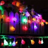 Battery Powered 5M 30 LED Ball Fairy String Light Outdoor Christmas Wedding Xmas Party Decor