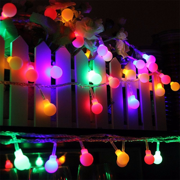 LED Ball String Fairy Lights Battery Operated Christmas Wedding Party Decor