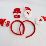 Christmas Snowman Head Santa Claus Headband Hair Hoop Christmas Decorations