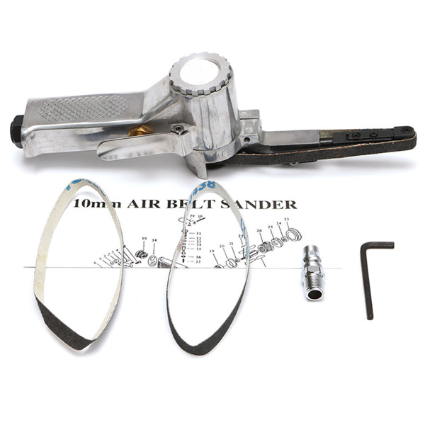16000rpm Air Belt Sander with 10x330mm Sanding Belt Pneumatic Tool