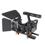 YELANGU YLG1105A A7 Cage Set Include Video Camera Cage Stabilizer / Follow Focus / Matte Box for Camera GH4 / A7S / A7 / A7R / A7RII /  A7SII (Orange)