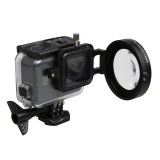 For GoPro HERO5 Sport Action Camera Proffesional 58mm 16X Macro Lens Close-up Filter with Lens Base & Adapter Ring & Lens Protective Cap & Anti-lost Hand Strap & Cleaning Cloth