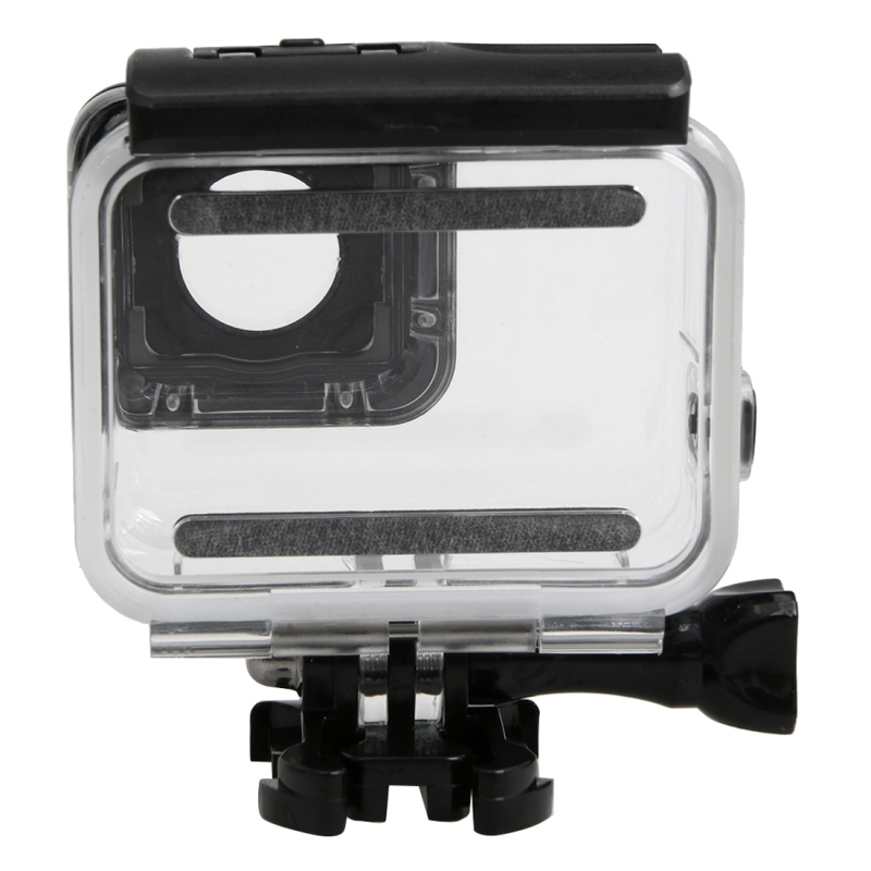 For GoPro HERO5 30m Waterproof PC & ABS Housing Protective Case + Touch Back Cover with Buckle Basic Mount & Long Screw, Backcover Size: 7 x 6 cm