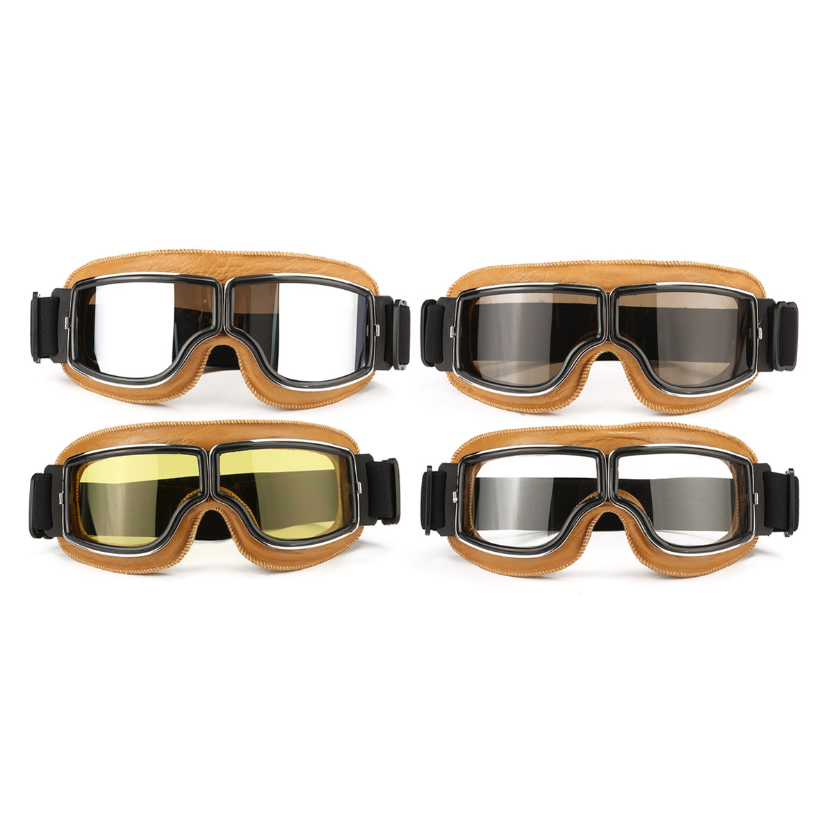 Glasses With Yellow Frame : Motorcycle Flying Scooter ATV Goggles Helmet Glasses ...