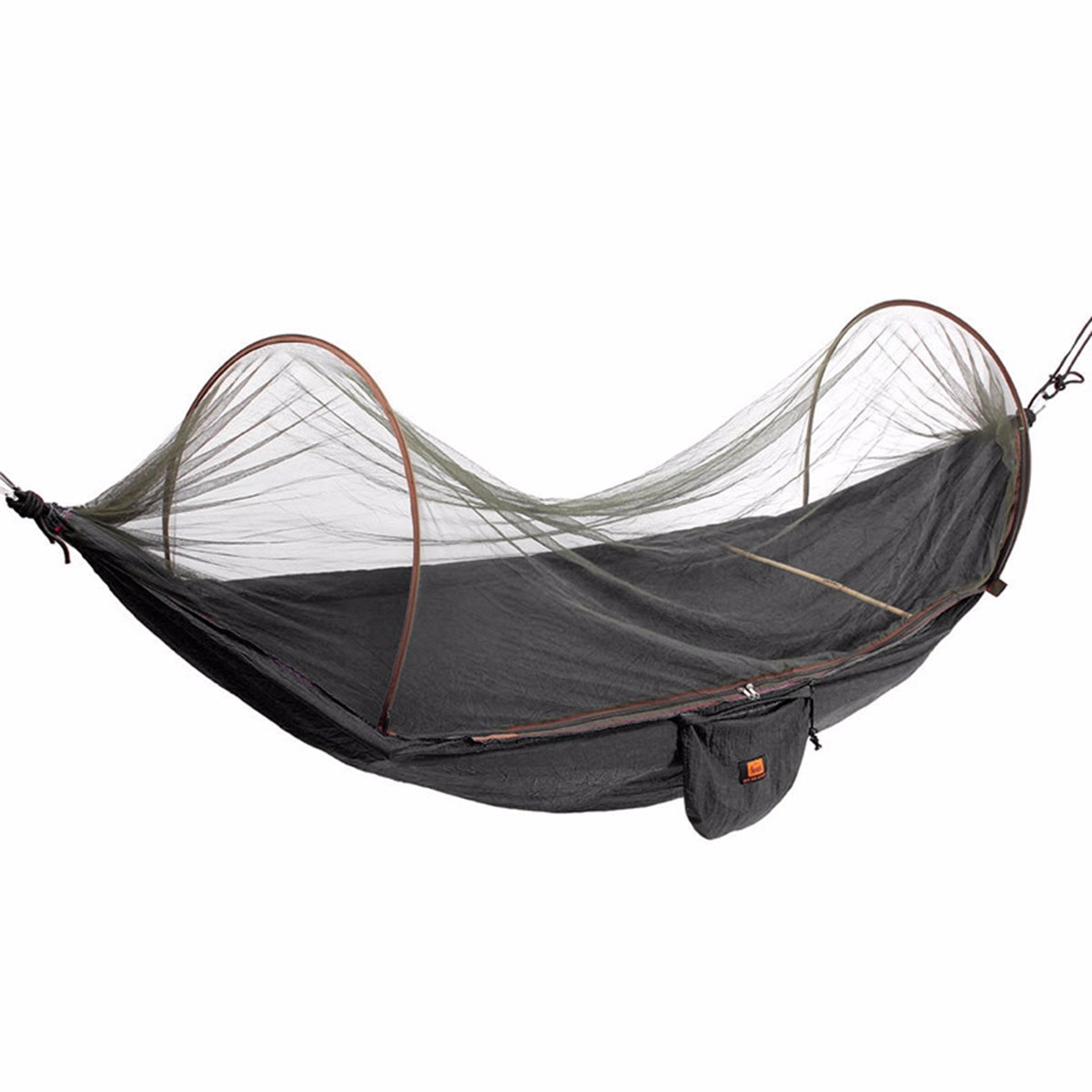 Outdoor portable camping parachute hammock hanging swing for Net hammock bed