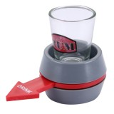 Spin The Shot Novelty Drinking Game Turntable Toy Playing Spin Bottle Props with Shot Glass for Bar, KTV, Home Party